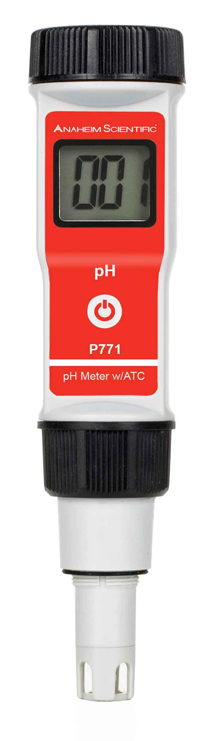 Anaheim Scientific P771 High Accuracy Pocket Sized pH Meter with ATC, Measures 0.00-14.00 pH, 0.01 pH Resolution