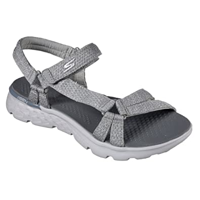Amazon.com | Skechers Women's On the GO 400 Bouncy Sandal, Gray, US 5 M |  Sandals