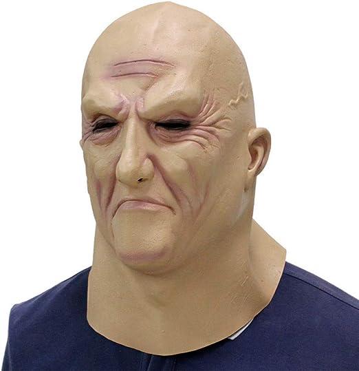 FLTVSN Máscara de Halloween Realista de Navidad Viejo Hombre ...