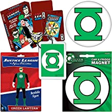 PopShoppes Green Lantern Justice League PopBox Deluxe Set (Bendable Figure, Playing Cards, Magnet, Button and Acrylic Keychain) Cool Value!