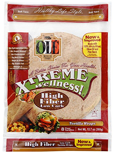 Ole Xtreme Wellness High Fiber Low Carb Wraps - 4 Pack Case - 8ct (Fat Xtreme Carb)