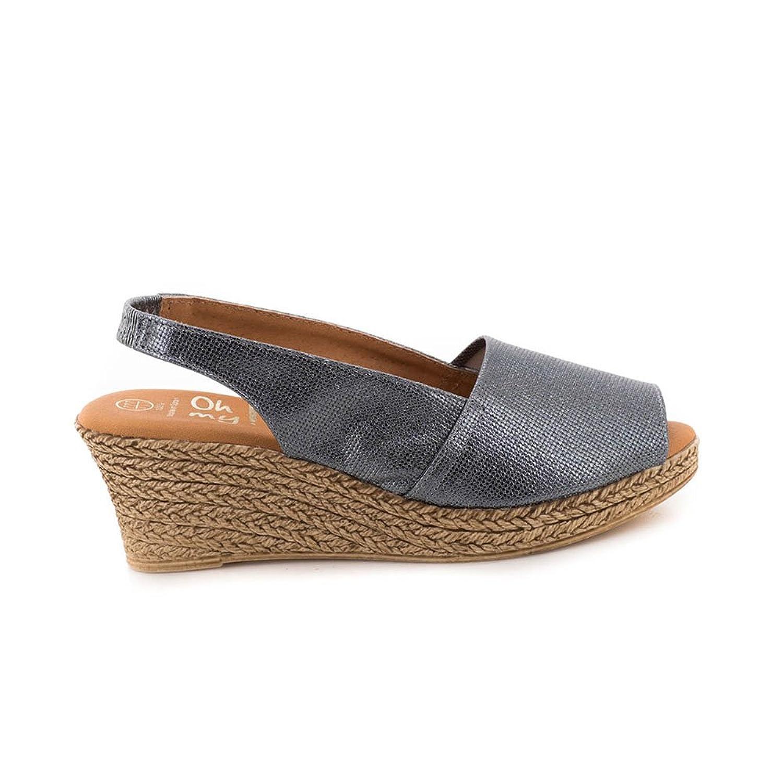 bd61723354c Sandalia Oh My Sandals De Piel Plomo 3900 Bueno wreapped. El servicio  durable SCLOTHS Chanclas Mujer ...