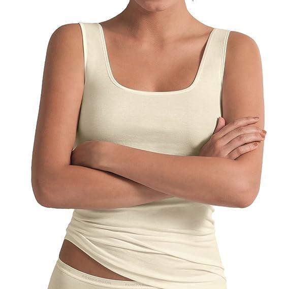 Unterhemd  />/>/>/>   weiß     Micro Modal pompadour...... ohne Arm Shirt......