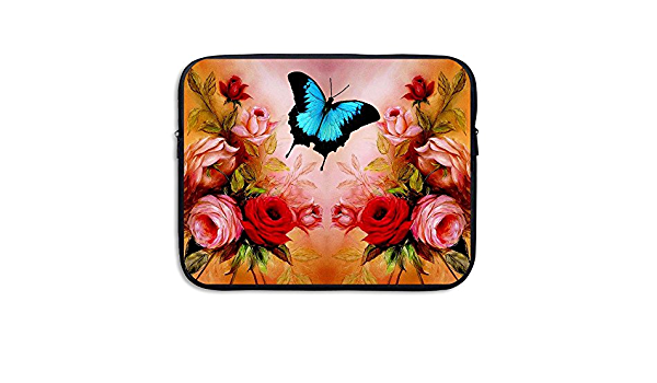 Jingclor Business Briefcase Sleeve Artistic Flowers Butterfly Vector Laptop Sleeve Case Note PC Cover Handbag