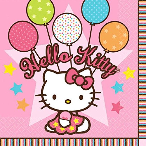 Luncheon Napkins | Hello Kitty Balloon Dreams Collection | Party Accessory ()