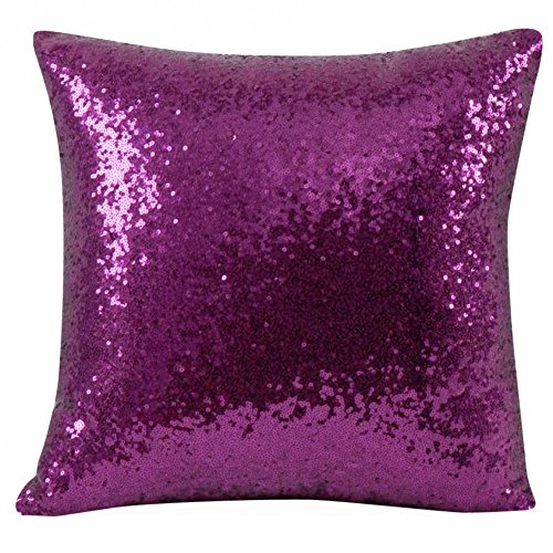 TWGONE Sequin Pillow Case 16x16 Solid Color Glitter Cafe Home Decor Throw Cushion Covers (40cm40cm/15.7415.74