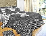 Black & White Check Duvet - 4 Pc. Extra Long Twin Size Duvet Cover Bedding Set (1 Duvet Cover, 1 Fitted Sheet, 1 Sham, 1 Pillow Case) - SAVE BIG ON BUNDLING!