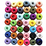 42 Piece Colourful Cotton Crochet Thread Set by Kurtzy - 47.5 Yards Crafts Knitting Yarn Lace Flowers Skein Skeins Balls - 1995 Yards Total - Perfect for Beginners & Experienced Crochet Enthusiasts