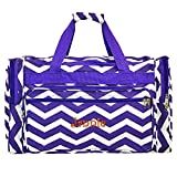 Personalized Purple Chevron Weekender Duffle Bag 22 Inch Review
