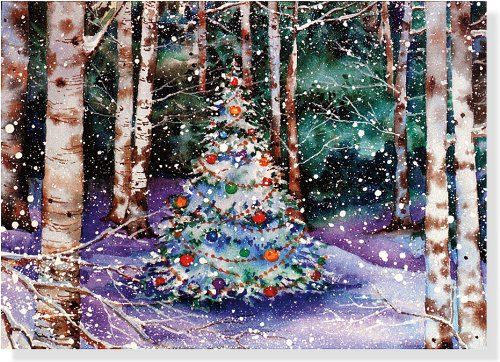 Festive Forest Holiday Boxed Cards (Christmas Cards, Holiday Cards, Greeting Cards) (Deluxe Holiday Card) (Deluxe Boxed Holiday ()