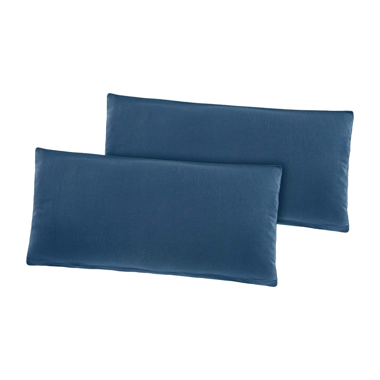 40 x 80 cm Cotone Basatex Confezione da federe cuscino federa per cuscino 40/x 80/cm 100/% cotone bordeaux