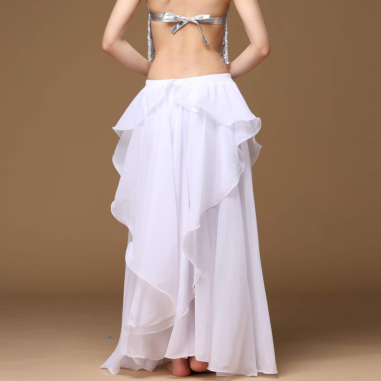 Wuchieal Womens Fairy Belly Dance Skirt Large Swing Skirts Women Belly Dancing Practice Skirt