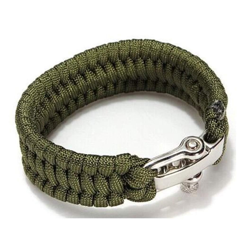 Dcolor 7 Strand Supervivencia Militar pulsera de la cuerda de la armadura de la hebilla Negro