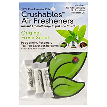 crushables air fresheners natural no chemicals air freshener for home car