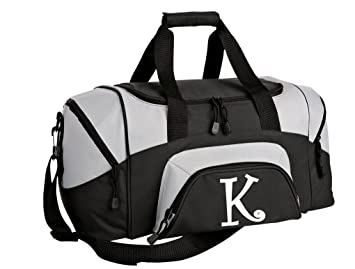 961fe45706de SMALL Personalized Gym Bag Monogrammed Duffel Bag Custom Printed Initial  Black