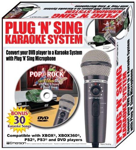 Emerson MM205 Plug N Sing Handheld Karaoke Microphone w/30 S