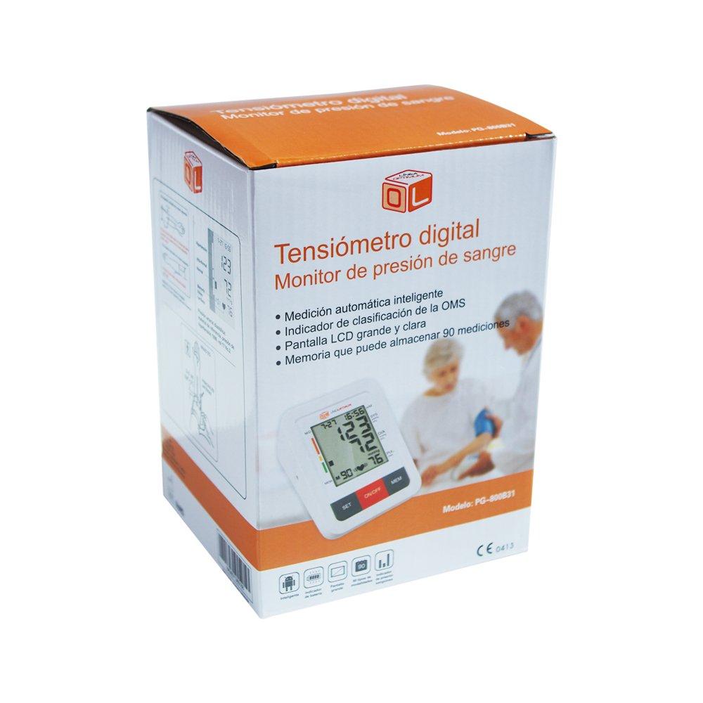 Tensiómetro de Brazo Digital Funda Incluida - Medicion Automatica Memoria de 90 Mediciones - Alta Tecnología para dar Lecturas de Presión Arterial Rápidas, ...
