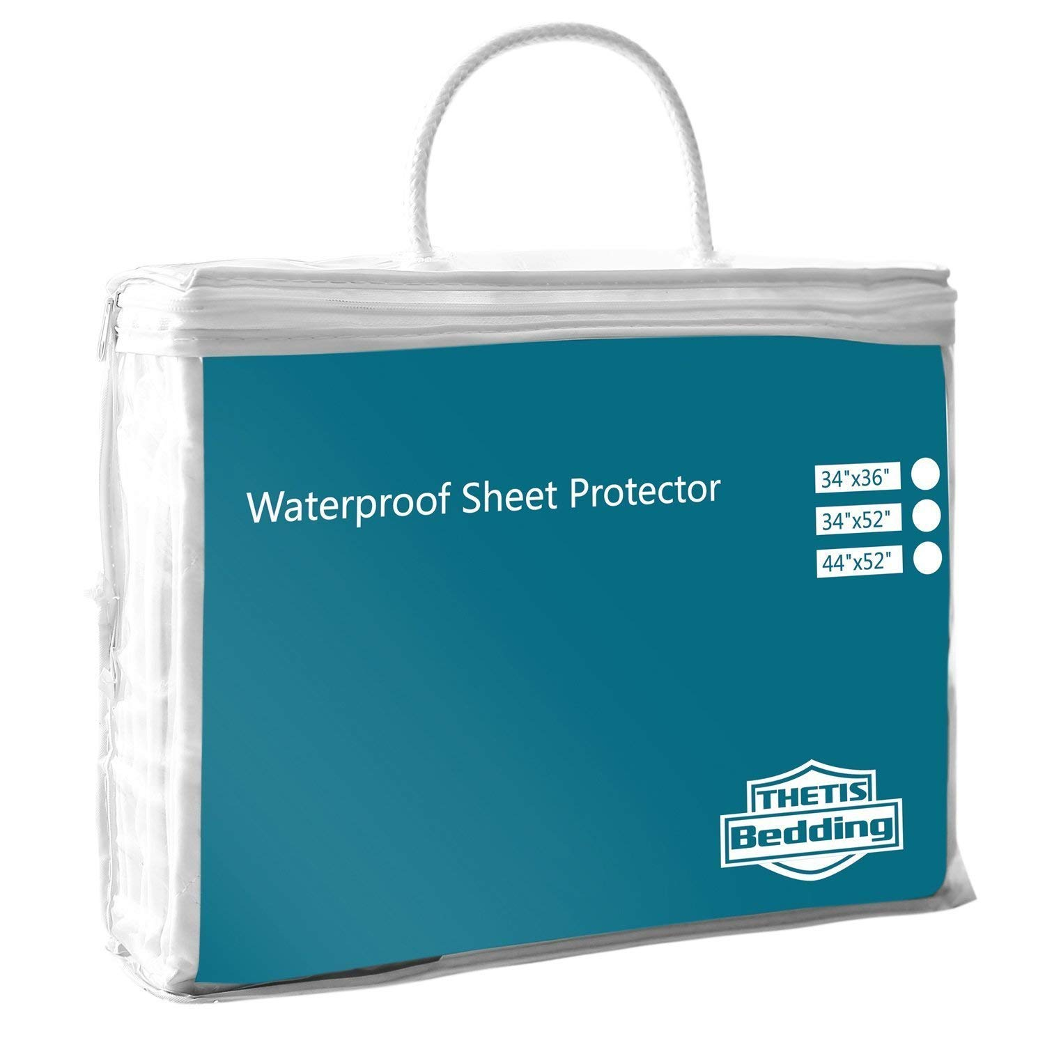 """Thetis Homes Waterproof Bed Pad, Waterproof Sheet, 34""""x 52"""", Machine Washable, Baby Bed Pad and Incontinence Pad"""
