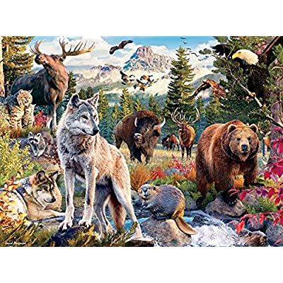 Ceaco Wild - American Animals 1000 Piece Puzzle: Toys & Games