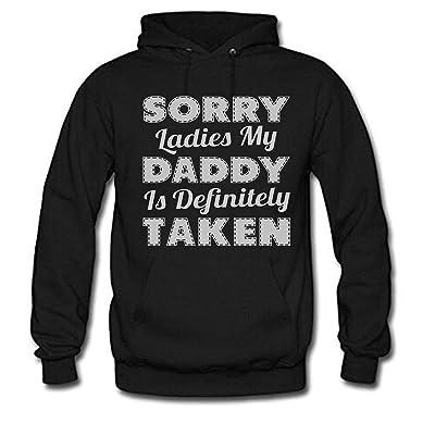 Sorry Ladies My Daddy is Definitely Taken Women's Long Sleeve Hoodie: Ropa y accesorios