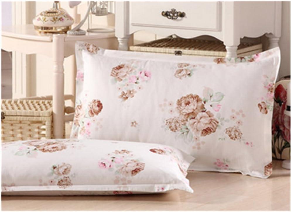 Kaka (TM) 2pcs 100% algodón cómodo rectangular fundas de almohada con funda de almohada
