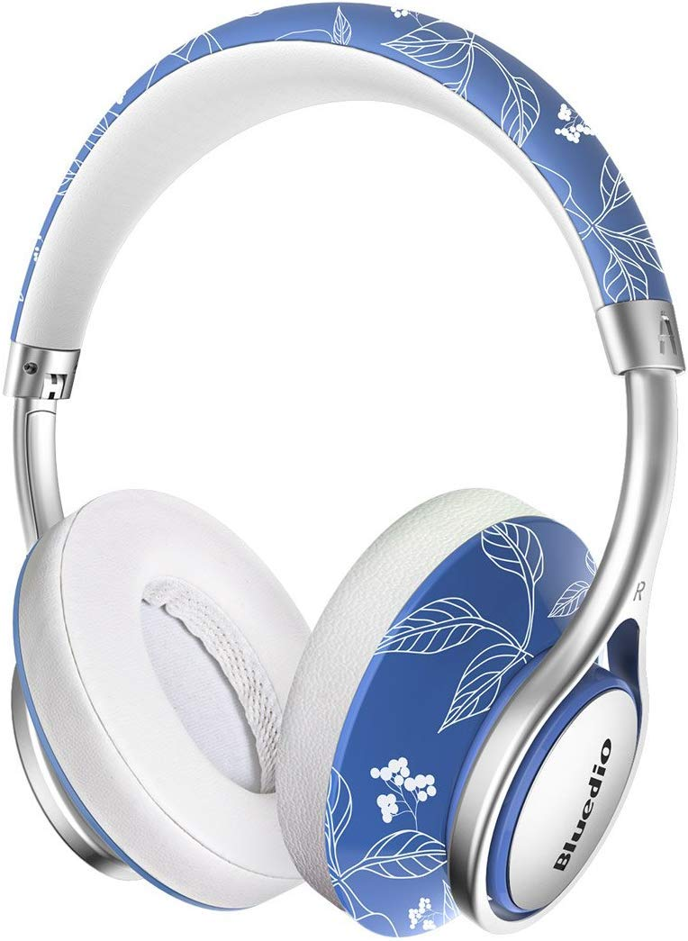 Bluedio A2 (Air) Bluetooth Headphones 3D Stereo Surround Sound, Foldable Lightweight Stylish Over Ear Wireless Headphones with Mic with Carrying Case for Cell Phones/PC (China)