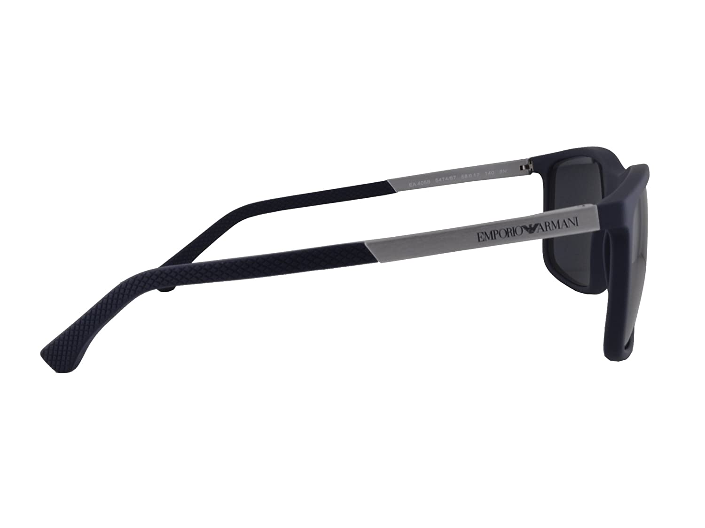 7c4027cacb402 Amazon.com  Emporio Armani EA 4058 Sunglasses Dark Blue Rubber w Gray Lens  5474 87 EA4058 For Men  Clothing