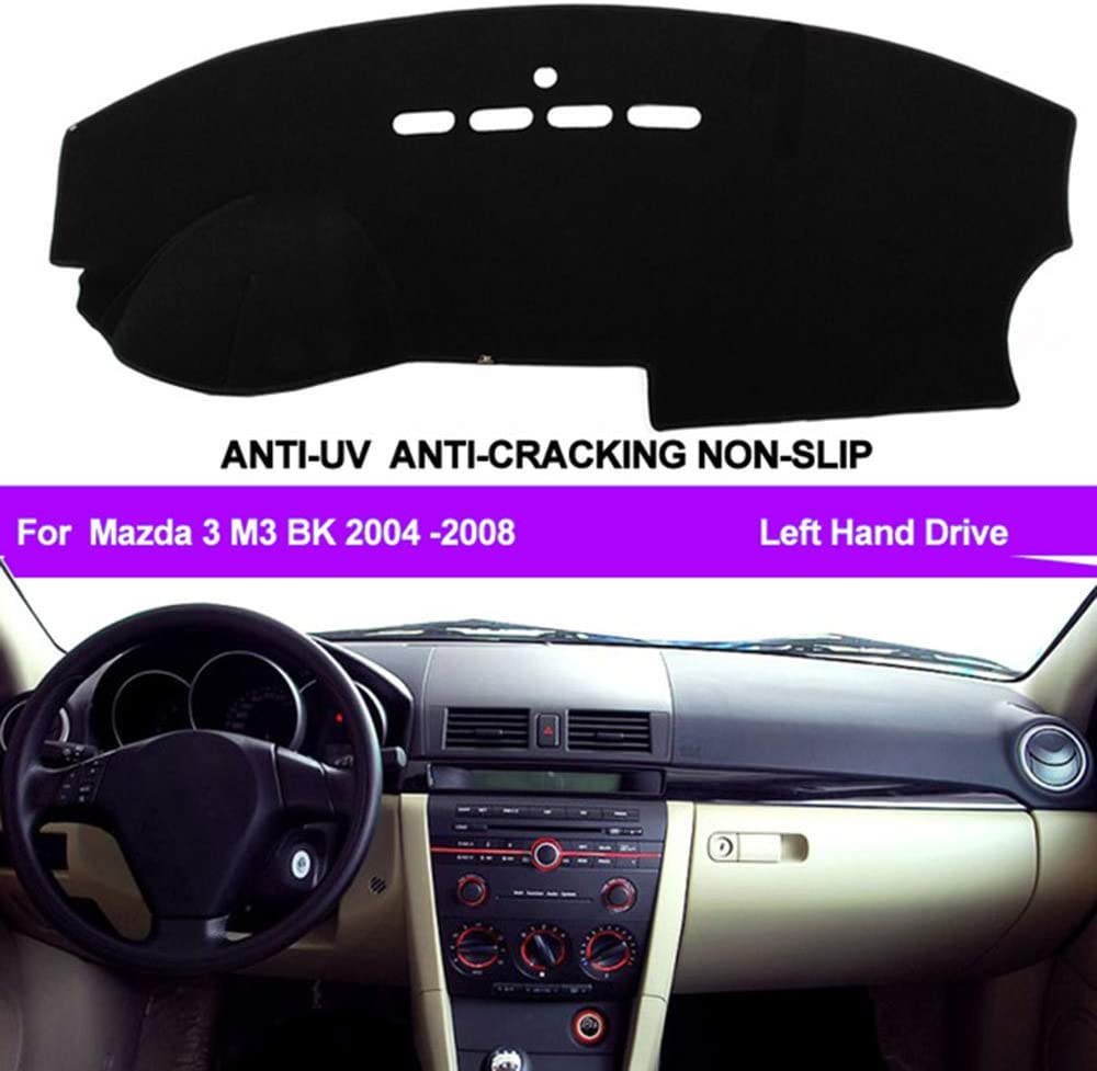 N2Qnice Car Auto Dashboard Cover for Mazda 3 Mazda3 M3 BK 2004 2005 2006 2007 2008 Left Hand Drive Dashmat Pad Carpet Dash Mat