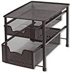 'SimpleHouseware Stackable 2 Tier Sliding Basket Organizer Drawer, Bronze' from the web at 'https://images-na.ssl-images-amazon.com/images/I/61U2VN6ZWLL._AC_SR150,150_.jpg'
