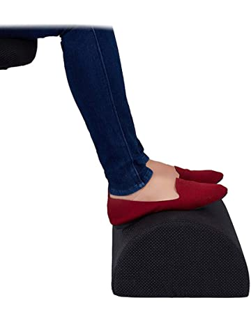 Konesky Foot Rest Cushion Under Desk Foot Taburete Cilindro Memory Foam Soporte para pies Portable Therapeutic