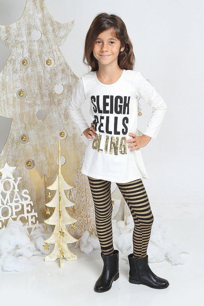 Haven Girl Black /& Gold Stripe Leggings