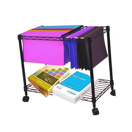 881e68a6a2cc Amazon.com : 8.5 x 11 Hanging File Folder Cart on Wheels Rolling ...