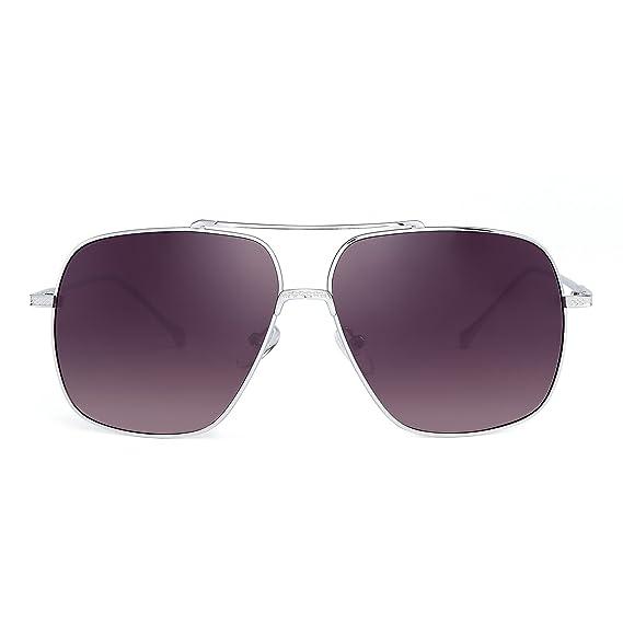 444c7db3f199a Oversize Aviateur Des lunettes de soleil Gradient Clair Lentille Pilot Métal  Lunette Solaire Hommes Femmes (