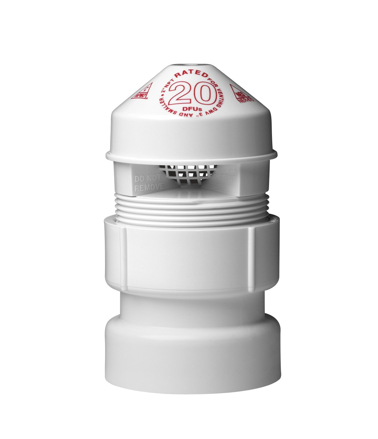 Oatey 39017 SURE-VENT AIR ADM VALVE, 1-1/2-Inch by 2-Inch, White by Oatey
