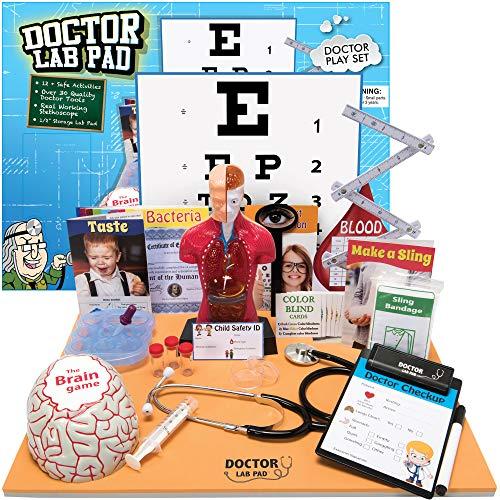 61U2WgVutlL - Ben Franklin Toys Doctor Lab Pad Biology Kit
