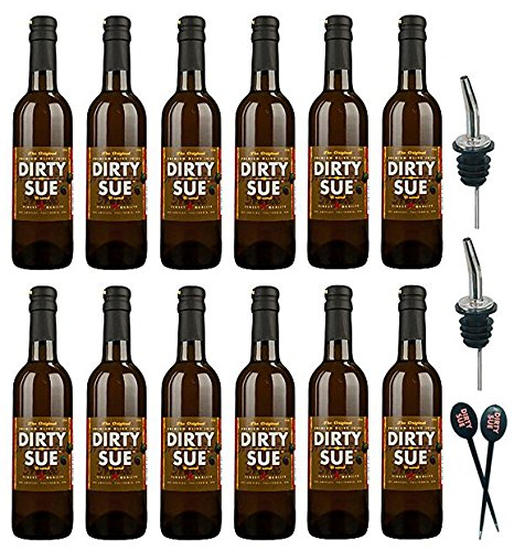 12-Pack Dirty Sue Premium Olive Juice Martini Mix 375ML (12.69oz) (Best Martini Olive Juice)