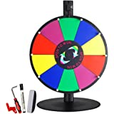 "WinSpin 15"" 10 Slot Tabletop Color Dry Erase Prize Wheel and Stand Fortune Spinning Game Tradeshow"