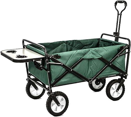 Al Aire Libre/Festivales/Acampar/Carro de jardín Carro Plegable Plegable Carro de Transporte para Uso General, Carrito de Servicio al Aire Libre, Resistente con Mesa, 80 kg Carga máxima, 8 Col: Amazon.es: Hogar