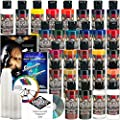 26 CREATEX Wicked Colors 2oz Detail Colors Airbrush Paint Set