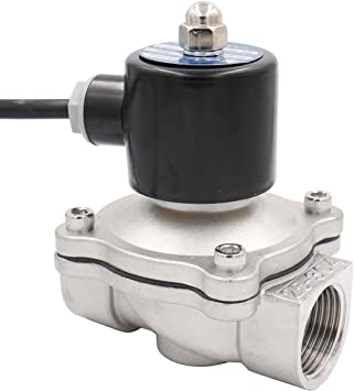 Amazon Com Baomain Electric Solenoid Valve 1 Inch Ac 220v Water Air Fuels Nc Valve Steel Stainless 304 Energy Saving Home Improvement