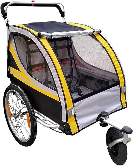 HJTLK Jogger de Remolque para Bicicleta Infantil con Cochecito de ...