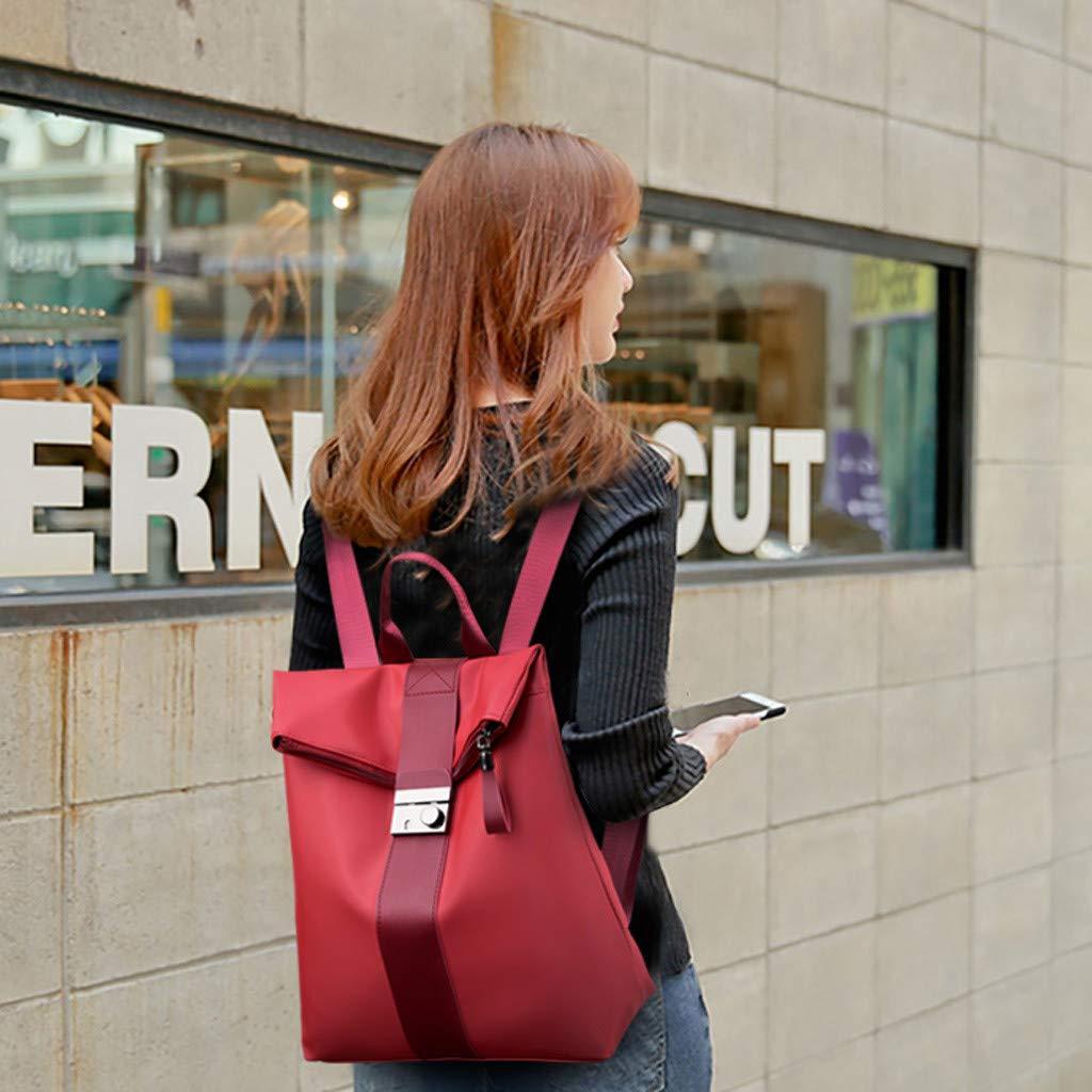 LANSKIRT/_Bolsos Bandolera Mochila Mujer Impermeable Nylon Bolso de Hombro de Cuero Bolso de Viaje Gran Capacidad Messenger Bag Backpack para Escuela Trabajo Viajo Bolsos de Mano Diario