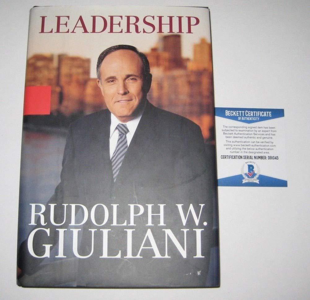 Rudy Giuliani Autographed Signed Leadership Book Beckett Authentication & I Love Ny Inscription