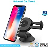 ZAAP Quicktouch Two Car Mount Mobile Holder For Interior Fittings Car Windshield, Dashboard & Working Desks (Black)