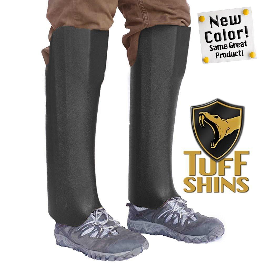 Tuff Shins - Plastic Snake Leggings, Black (Old version was Olive Green) - one size