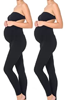 64a5888d059f35 Leading Lady Women's Cotton Maternity Support Leggings at Amazon ...