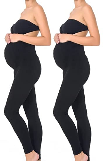 Mothers Essentials Maternity Pregnant Women Leggings Black At Amazon