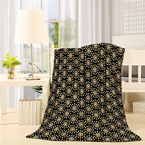 Luxury Collection Ultra Soft Plush Fleece Lightweight All-Season Throw/Bed Blanket (King 60x80 Inch, Arabian Ornament Pattern Simple Design) by Homeinn
