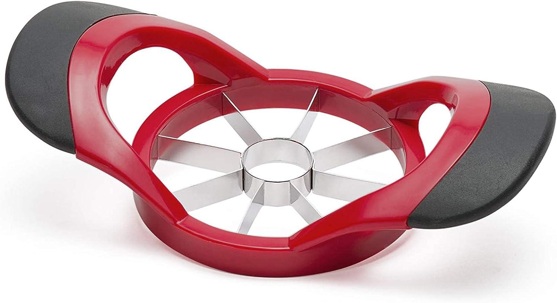 Ortarco Apple Corer Slicer Fruit Cutter Divider 8 Stainless Steel Blades Non-Slip Handle Kitchen Tool Red