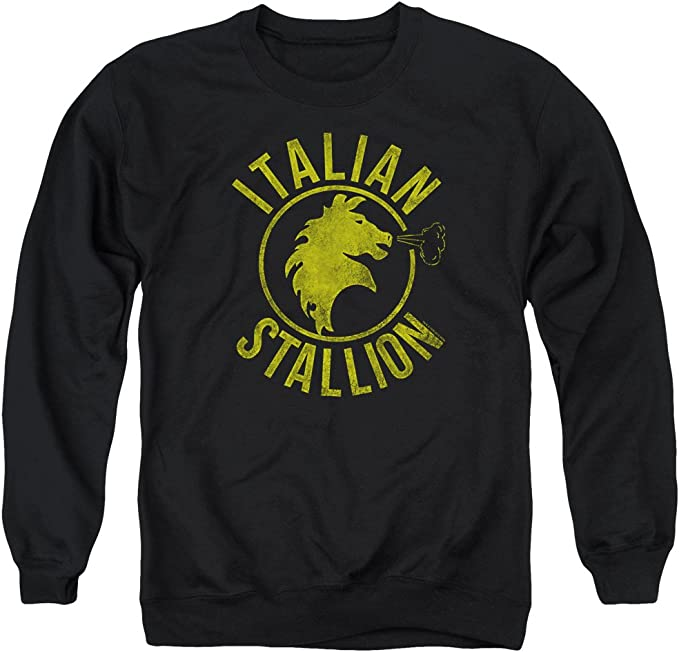 Rocky Sports Boxing Action Movie Italian Stallion Adult Crewneck Sweatshirt